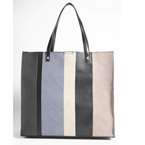 NWT Forever 21 Colorblock Faux Leather Large Tote